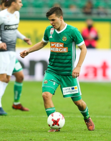 VIENNA,AUSTRIA,28.OCT.17 - SOCCER - tipico Bundesliga, SK Rapid Wien vs FC Admira Wacker Moedling. Image shows Thomas Murg (Rapid). Keywords: Wien Energie. Photo: GEPA pictures/ Philipp Brem