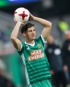 VIENNA,AUSTRIA,28.OCT.17 - SOCCER - tipico Bundesliga, SK Rapid Wien vs FC Admira Wacker Moedling. Image shows Stephan Auer (Rapid). Keywords: Wien Energie. Photo: GEPA pictures/ Philipp Brem