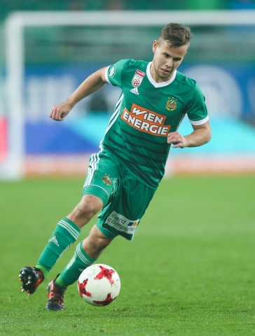 VIENNA,AUSTRIA,28.OCT.17 - SOCCER - tipico Bundesliga, SK Rapid Wien vs FC Admira Wacker Moedling. Image shows Louis Schaub (Rapid). Keywords: Wien Energie. Photo: GEPA pictures/ Philipp Brem