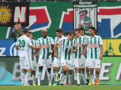 VIENNA,AUSTRIA,26.AUG.18 - SOCCER - tipico Bundesliga, SK Rapid Wien vs FC Wacker Innsbruck. Image shows the rejoicing of Rapid. Keywords: Wien Energie. Photo: GEPA pictures/ Christian Ort
